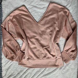 BNWOT!! Express 1 eleven cropped dbl v sweatshirt!